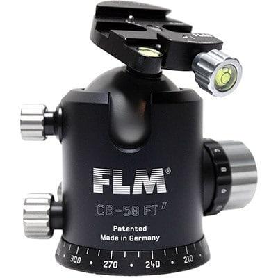 FLM pro tripod head CB-58FTR ballhead with tilt function (pro tripod head solution)