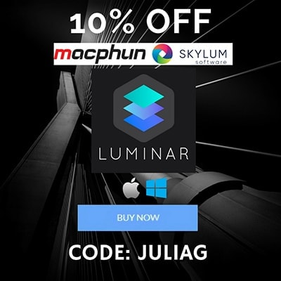 Skylum Macphun Luminar 2018 discount 10% OFF - CODE JULIAG