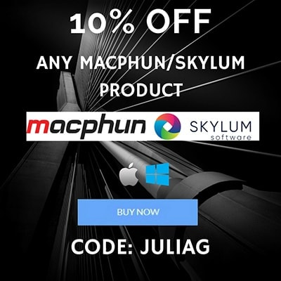 Any Skylum Macphun product discount 10% OFF