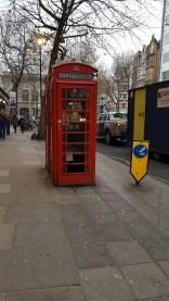 Ma première cabine téléphonique rouge !
