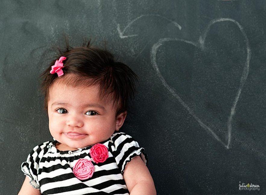 heart baby chalkboard