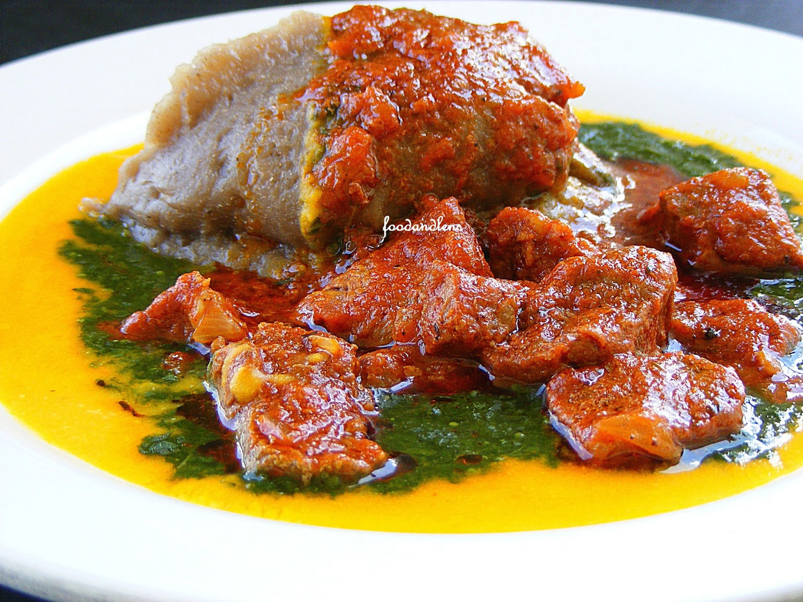 amala-ewedu-and-gbegiri food