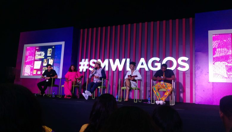 The panel of speakers at the Digital Jollof SMW2020 conference