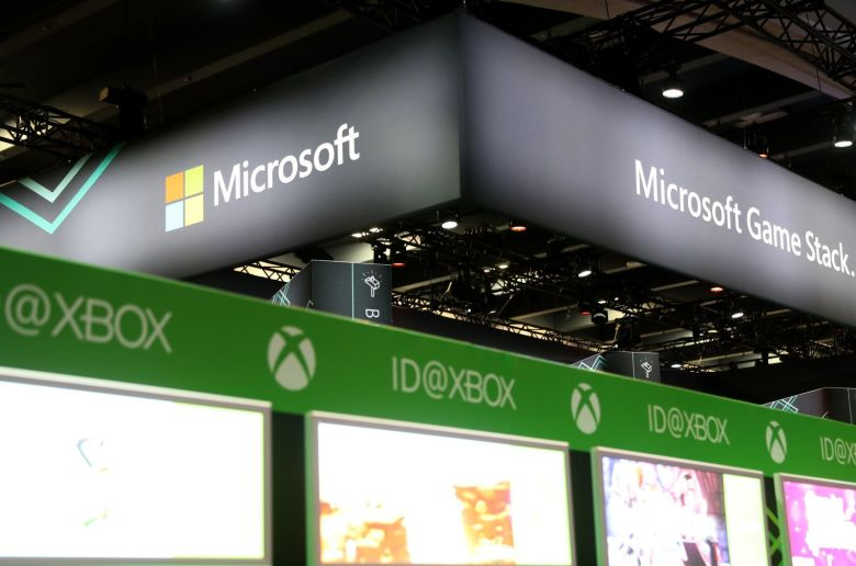 The Microsoft booth at the 2019 Game Developers Conference