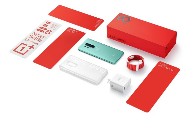 Box contents for the OnePlus 8 Pro
