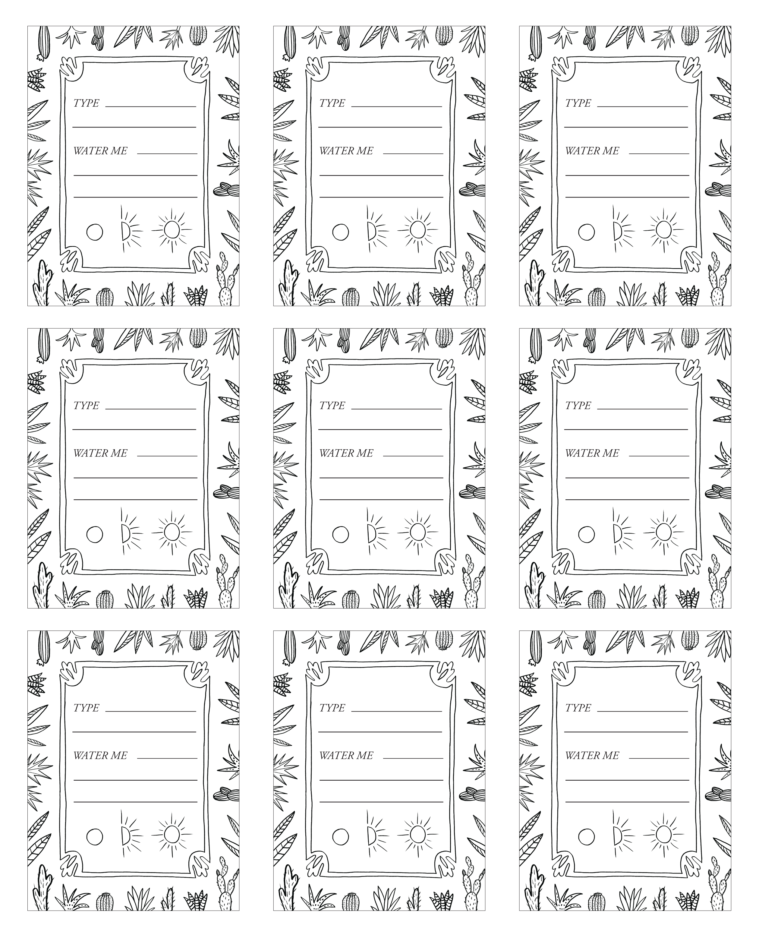 Diy Patternful Planters Free Printables