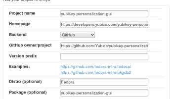 Telegraphist: Add a project to Anitya