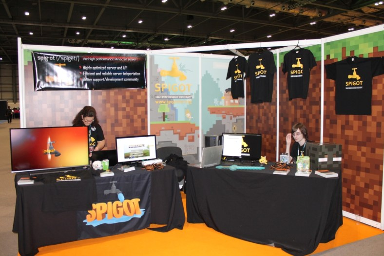 SpigotMC Booth Shot at MINECON 2015