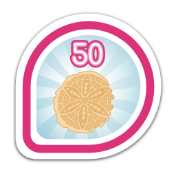 Pizzelle badge: You got 50 karma cookies!