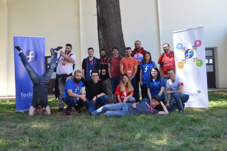 Fedora Project community meet-up in Tirana, Albania for Open Labs Hackerspace's OSCAL 2017