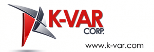 K-Var red and black logo with firearm