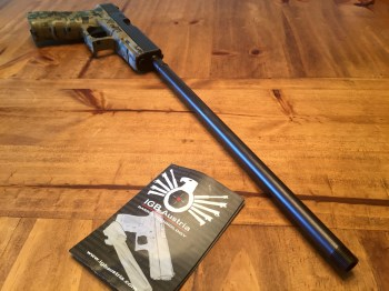 Glock 17 with 16-inch IGB Austria threaded barrel