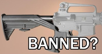 bump stock on an Ar-15 with banned message to voice your outrage