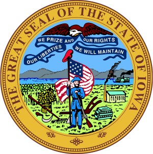Seal of the state of Iowa Constitutional