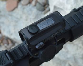 AR-15 pistol with Holosun Paralow HS503C sight solar collector