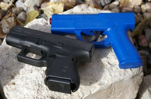 LaserLyte trainer compared to Glock pistol