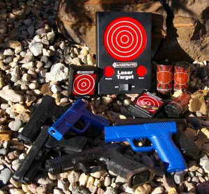 LaserLyte pistol, Trainers and Glock pistol