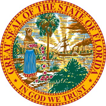 Seal of the State of Florida re tar and feathers