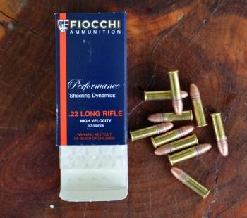Fiocchi 22 LR blue ammunition box