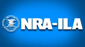 National Rifle Association Institute for Legislative Action blue and white logo discussing the High-Capacity Magazine Ban