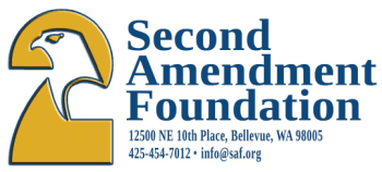 Second Amendment Foundation 2A logo and address
