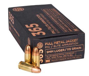 SIG 365 FMJ ammunition