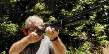 Bob Campbell shooting a Remington Model 870 Tactical Magpul shotgun
