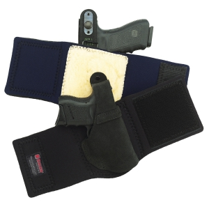 Galco Ankle Lite holster with front and back view
