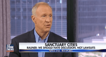 Governor Bruce Rauner speaking aabout sanctuary cities and 72-hour wait periods for firearms