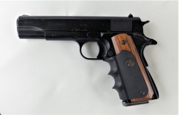 Regent R100 1911 semiautomatic .45 ACP handgun left profile