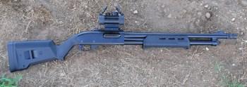 TruGlo mounted on a Remington 870 Express Tactical Magpul shotgun