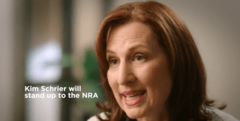 Screen capture of Dr. Kim Schrier for democratic gun control