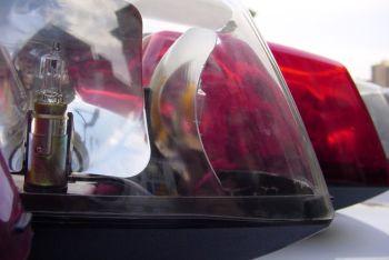 Light bar on a police cruiser