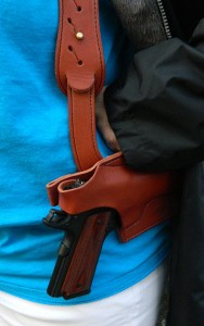 Para Ordnance .45 in a leather shoulder holster