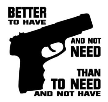 gun graphic of needing a gun and Hawaii's en banc request