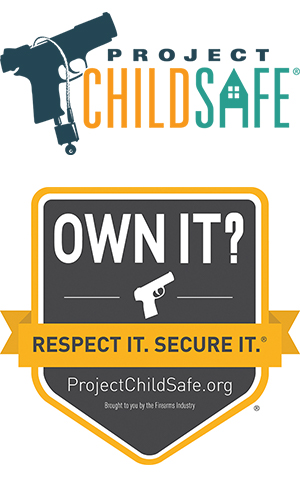 Project Child safe gun with lock logo
