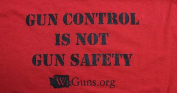 Gun control is not gun safety t-shirt in Washington state