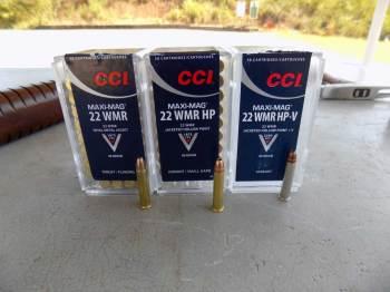 CCI .22 caliber ammunition boxes