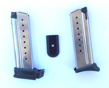 pistol magazines with an extra baseplate