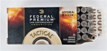Box of Federal Hydra-Shok cartridges