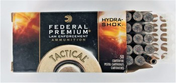 Box of Federal Hydra-Shok cartridges