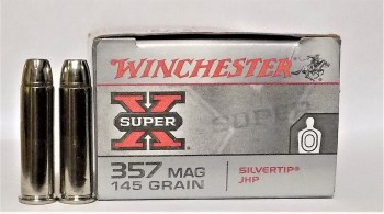 Winchester Super X .357 magnum ammunition box