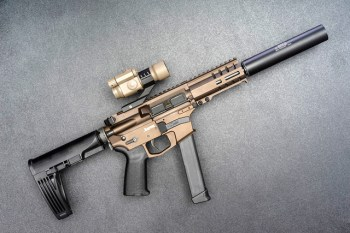 AR-15 pistol with brace