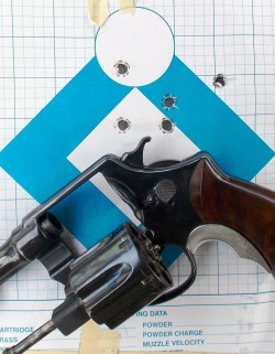 custom Smith and Wesson N frame Model 1917 revolver left profile with open cylinder