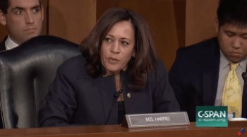 Screen capture of kamala Harris