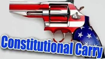Star spangled revolver declaring constitution carry