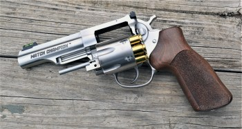 Ruger GP100 10mm revolver with loaded open cylinder