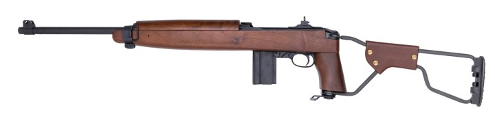 M1 Carbine with wire stock in the open position