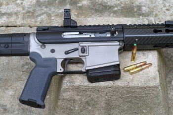 Upper and lower receiver of a .300 Blackout AR-15