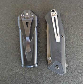 SureFire Stiletto Combat light left, pocket knife right